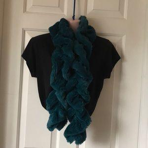 Scarf faux fur twist scarf